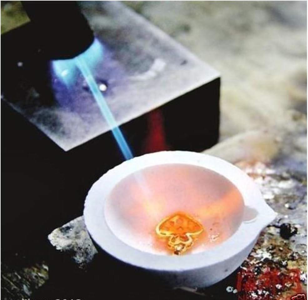 Wei/ß Baoblaze 2stk Schmelztiegel Quarz Handwerkzeuge Cup Sch/üssel Tasse