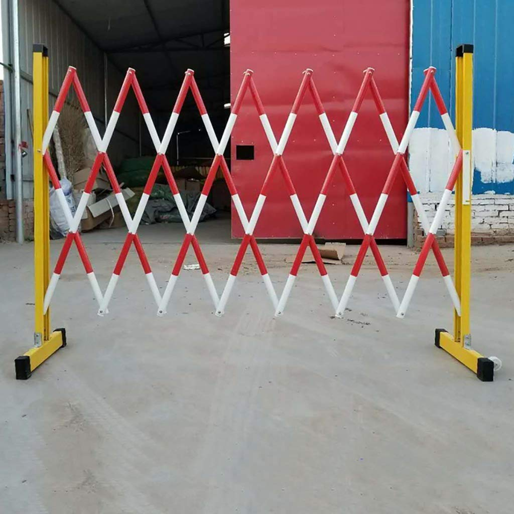 JF-Fencing Power Construction Telescopic Fence Height 120cm Size : Length 200cm//78.7inch Movable FRP Insulation Safety Isolation Fence 7 Kinds of Length.