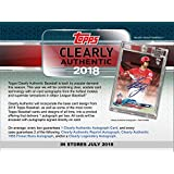 2018 Topps Clearly Authentic Baseball Hobby Box (1 Pack/1 Autograph)