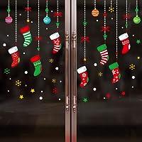 Stickers Noël Flocons De Neige Fête Noël Fenêtre Déco de Fenetre PVC Amovibles Joyeux Noël Bonne Année Stickers Muraux Maison DIY Décoration Vitres Murale Autocollants (60 * 45cm, 6257)