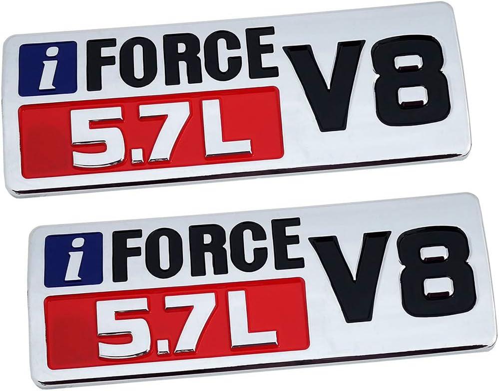 3D Door Badge Nameplate Decals Stickers Replacement for Tundra TRD PRO iFORCE Matte black 2Pcs IFORCE 5.7L V8 Badge Side Emblem