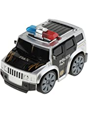 Flameer Push and Go Friction Powered Police Car with Lights & Siren Sounds Toys for Boys (388-31D)