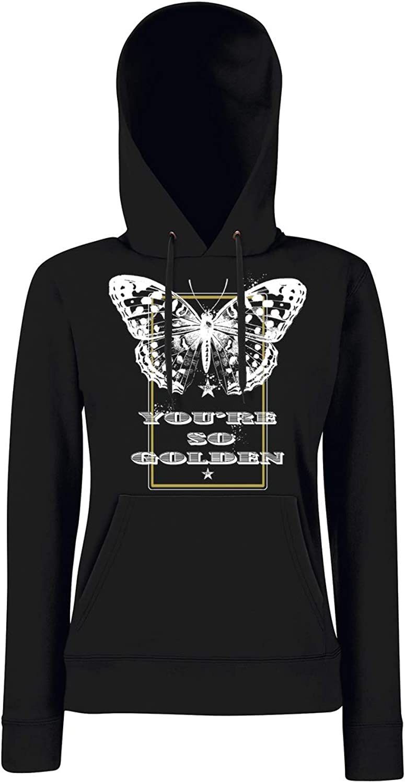 Bughyprint Felpa CappuccioDonna Butterfly Youre SO Golden