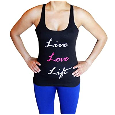 Live Love Lift Tank Top - Comfortable racerback to wear at Gym, Yoga, workout and crossfit