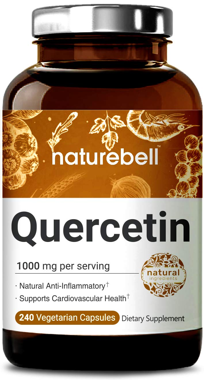 Maximum Strength Quercetin 1000mg, 240 Veg Capsules, Powerfully Supports Cardiovascular Health, Immune System and Bioflavonoids for Celllular Function, Non-GMO and Vegan Friendly