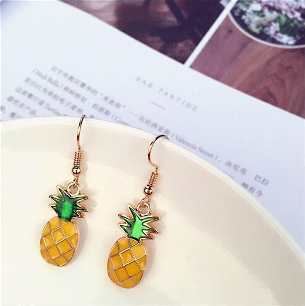 00b10810b312f Creative Fruit Earrings Pineapple Small Fresh Stud Summer Pop  Earrings,Pineapple