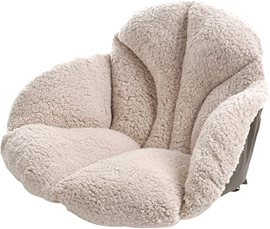 Stress Away Super Soft Sherpa Fleece Comfort Cushion with Arms Lower Back Support Upright Armchair Pillow