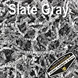 Arts & Crafts : Mighty Gadget (R) 1/2 LB Slate Gray Crinkle Cut Paper Shred Filler for Gift Wrapping & Basket Filling