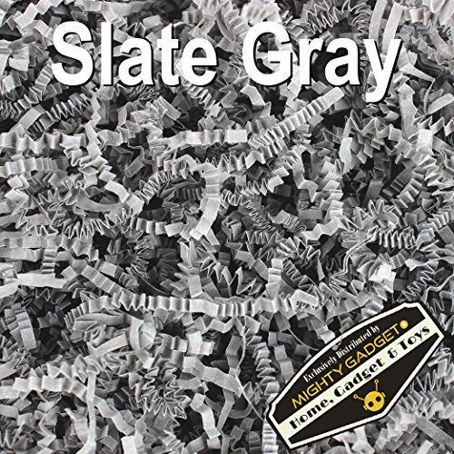 Mighty Gadget (R) 1 LB Slate Gray Crinkle Cut Paper Shred Filler for Gift Wrapping & Basket Filling