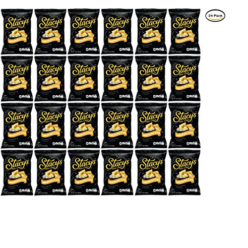 (PACK OF 24 - Stacy's Parmesan Garlic & Herb Pita Chips 7.33 oz. Bag)