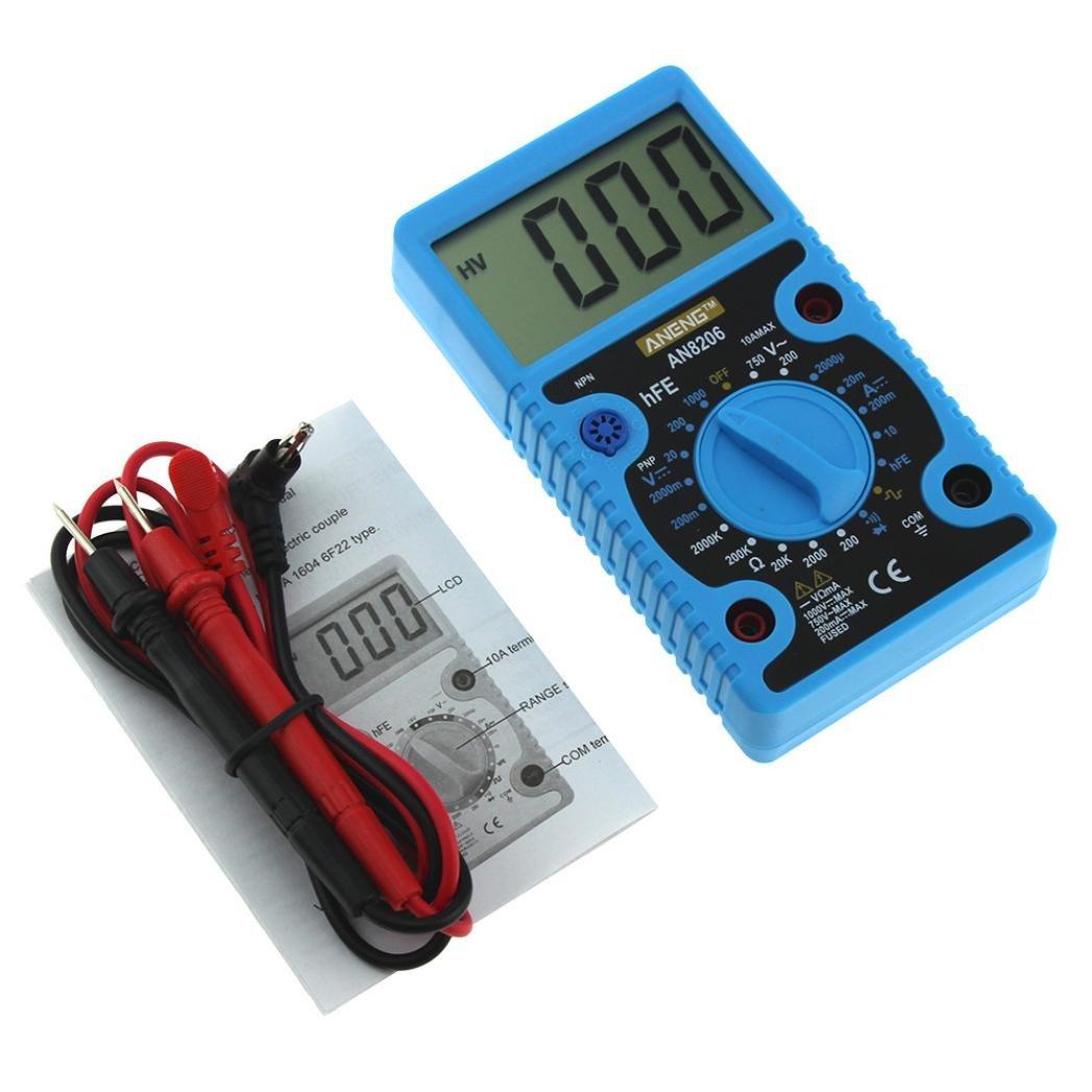 LtrottedJ AN8206 Digital Multimeter Large Displays Amps