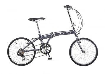 Bicicleta plegable bicicleta 6 velocidades Shimano gris Viking Avenue Gris gris