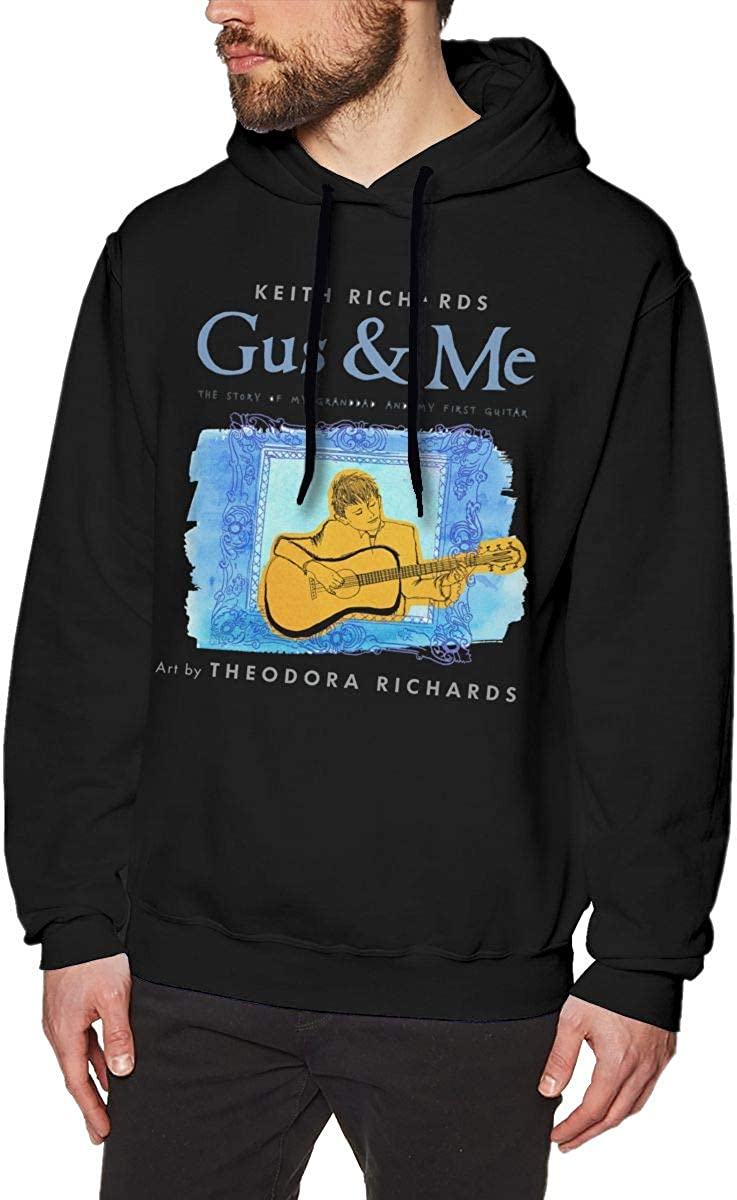 LANDONL Mens Keith Richards Gus /& Me Hoodies Sweatshirt Black