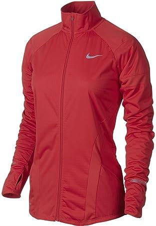 Nike Women's Dri-FIT Element Shield Full Zip Running Jacket Red Sz Medium