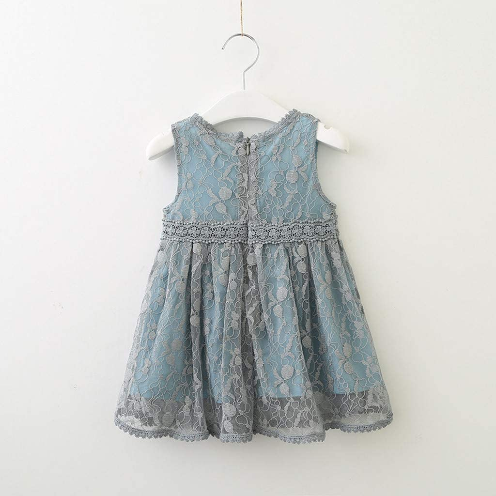 Shi Tou/_Children Toddler Kids Baby Girls Clothes Lace Tulle Party Wedding Pageant Princess Dress