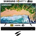 """Samsung Smart 4K UHD TV (2018) 7 Series with Sharper Image 37"""" Sound Bar Bluetooth Speaker With Optical Input and 6ft Optical Toslink 5.0mm OD Audio Cable"""