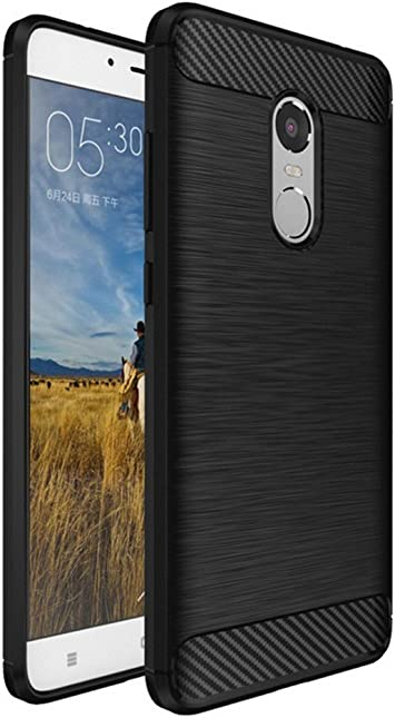 Tumundosmartphone Funda Gel TPU Tipo Carbon Negra para XIAOMI REDMI Note 4 / 4X / 4 Pro/Note 4 Version Global: Amazon.es: Electrónica