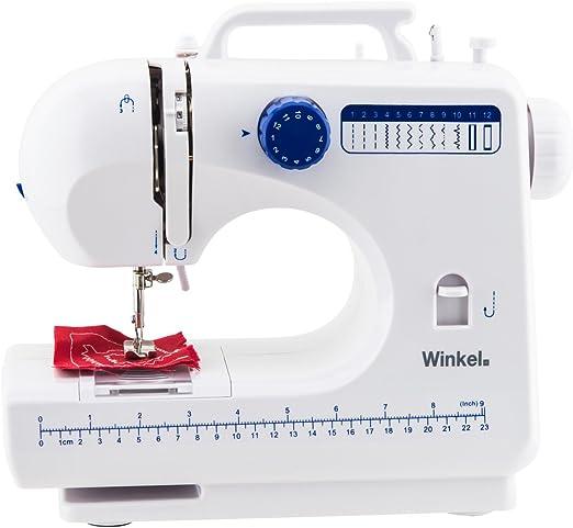 WINKEL SW45 Máquina de Coser mecánica, 12 Puntadas, con LED para ...