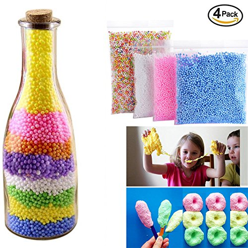 Foam Beads for DIY Slime,Faber3 Craft Styrofoam Balls 16000pcs for Kids Homemade Slime,Novelty Toys for Kids DIY,Christmas Gift,Colorful Styrofoam Balls Mini Foam Balls Decorative Ball DIY Craft