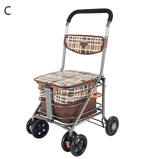Linana Carrito de Compras Old Man Trolley Silla de Ruedas Plegable ...