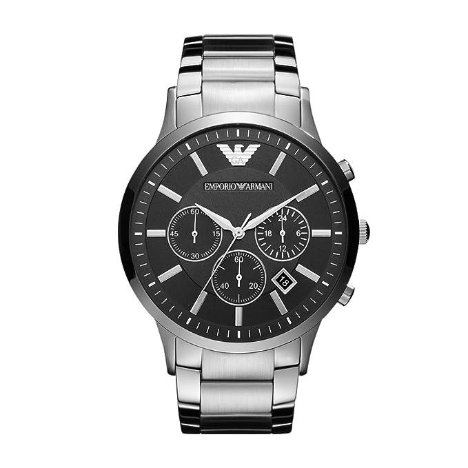e066e4c0a427 Emporio Armani Reloj Análogo clásico para Hombre de Cuarzo con Correa en  Ninguno AR2460  Amazon.es  Relojes