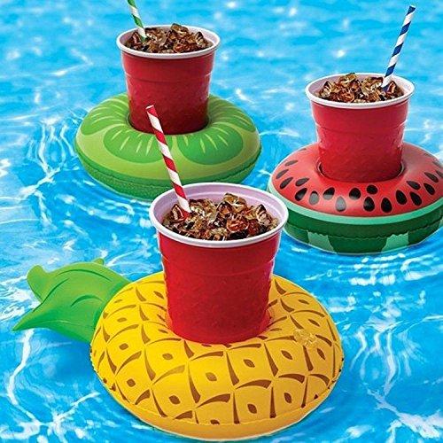 infalable bebidas taza de flotante Piscina flotadores posavasos bebida flotante soporte para agua parte, pack de 3: Amazon.es: Deportes y aire libre