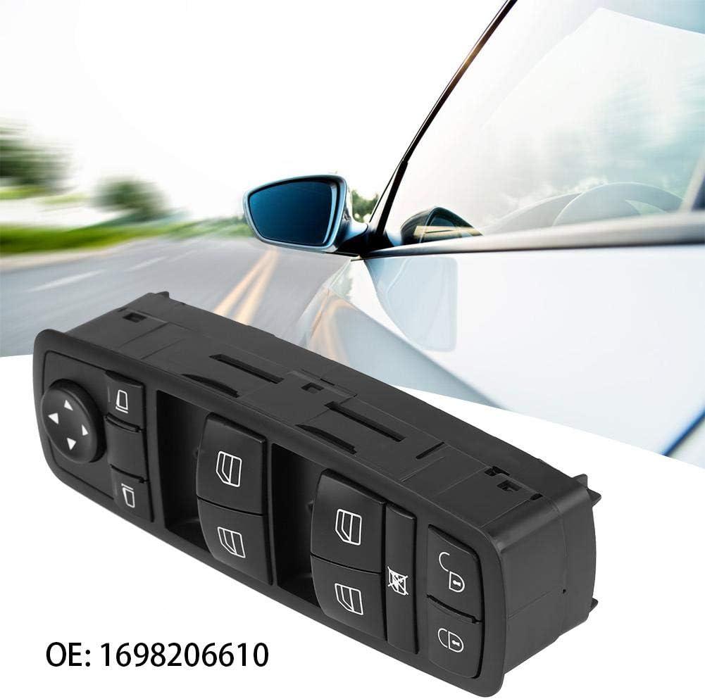 Qiilu Schaltereinheit f/ür elektrische Autofensterheber 1698206610 Elektrischer Hauptfensterschalter Fensterschalter f/ür A B GL ML R Klasse W169 W245 X164 W164 W251