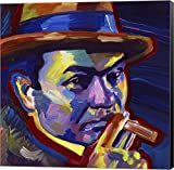 Edward G Robinson by Howie Green Canvas Art Wall Picture, Museum Wrapped with Black Sides, 20 x 20 inches
