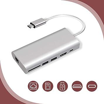Cable Length: 30cm 4 Ports USB 2.0 HUB docking station, Color : Black Universal laptop docking station