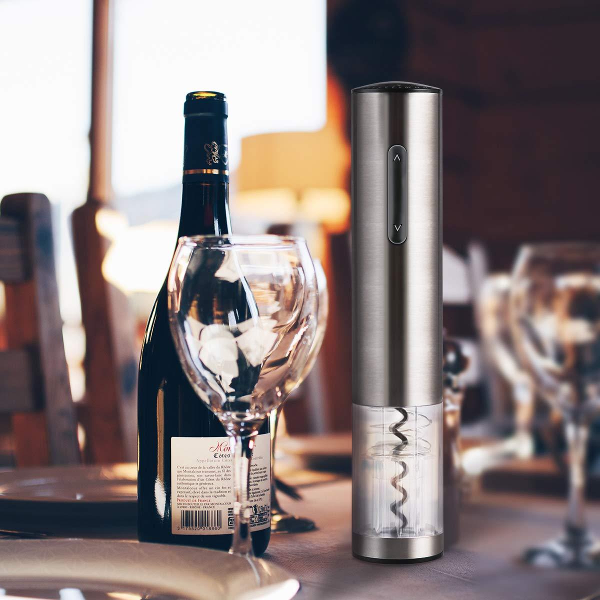 juego navide/ño Abrelatas de vino el/éctrico Hogar y estilo Abrelatas de vino inal/ámbrico con bater/ía con cortador de aluminio Tap/ón de vino al vac/ío y vertedor de vino