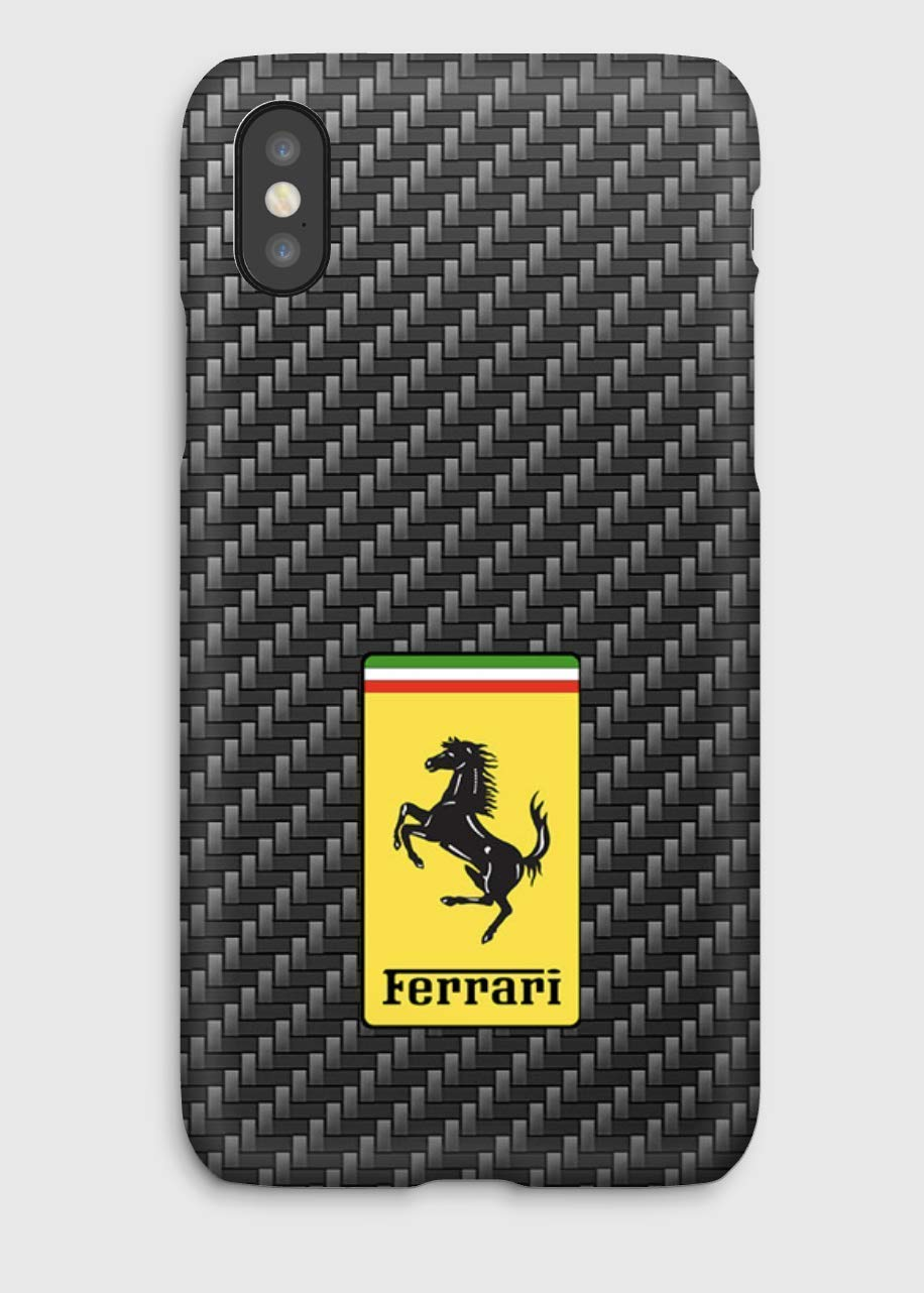 Carbon & Ferrari, Cover iPhone X,XS,XS Max,XR, 8, 8+, 7, 7+, 6S, 6, 6S+, 6+, 5C, 5, 5S, 5SE, 4S, 4,