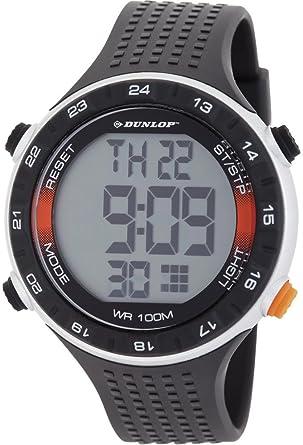 Dunlop DUN-200-G01 - Reloj digital de cuarzo para hombre con correa de plástico, color negro: Amazon.es: Relojes