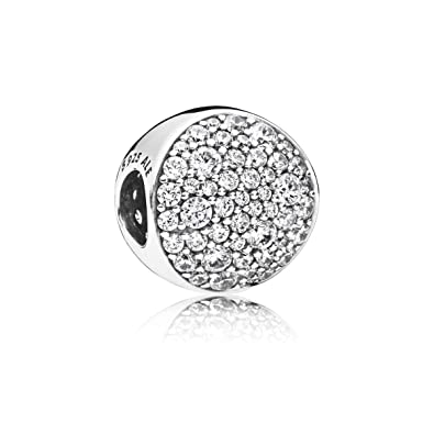 e0b682f62 Image Unavailable. Image not available for. Color: PANDORA Pavé Sphere 925  Sterling Silver Charm ...