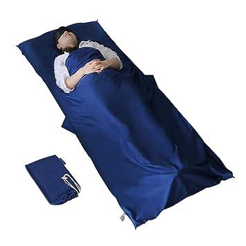 MYCARBON Travel Saco de Dormir 100% Algodón Duradero y Super Suave 220 x 90 cm