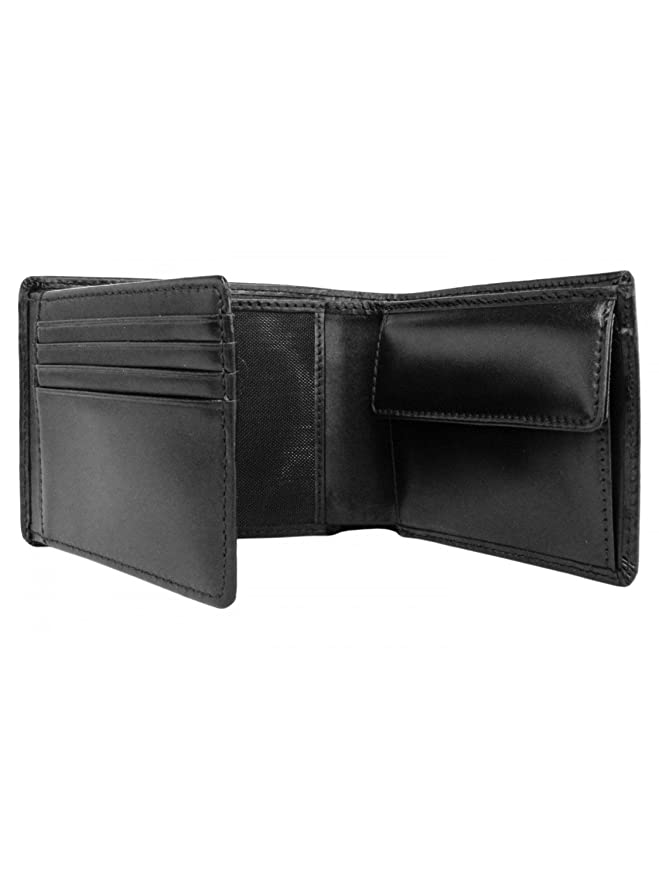 49581df247f Hugo Boss Arezzo 50128297 Mens Black Trifold Leather Coin Wallet:  Amazon.co.uk: Luggage