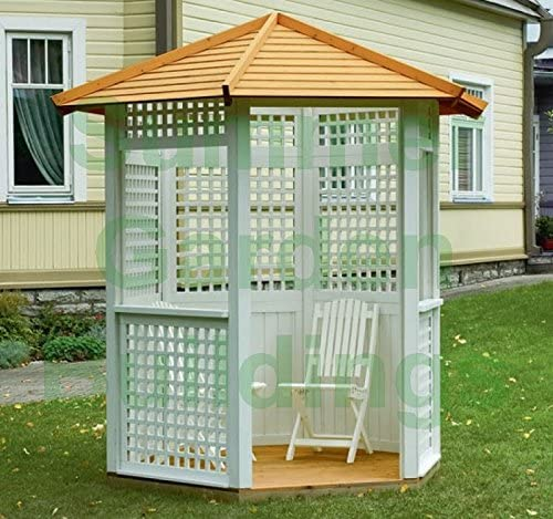 Summer Garden Buildings 7 x 6 jardín Gazebo Hexagonal de Madera ...