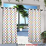 """lovely backyard patio cover design ideas Cat Outdoor Privacy Curtain for Pergola Colorful Pattern of Faces Kids Boys Girls Nursery Design Domestic Lovely Pets Meow Thermal Insulated Water Repellent Drape for Balcony W72"""" x L108"""" Multicolor"""