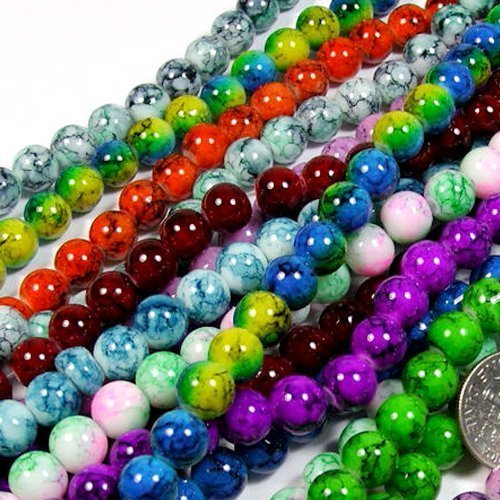 beading-station-50-piece-mix-artistic-new-marble-design-glass-round-beads-8mm