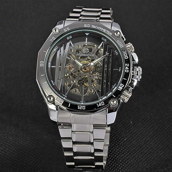 MOZISEN Hermoso y Elegante Reloj FORSINING / 427 Reloj mecánico automático de Acero con Correa de