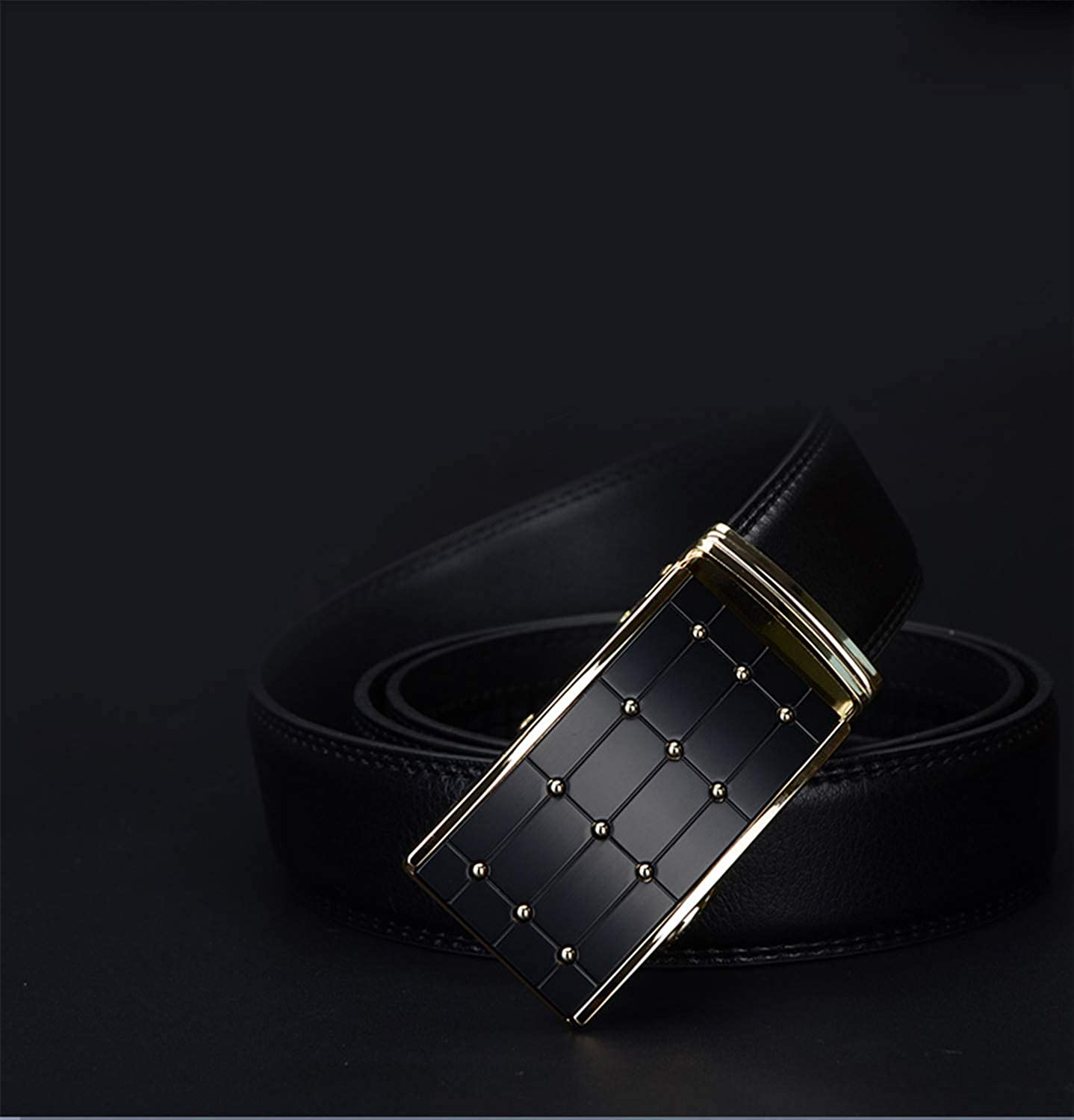 Cow Genuine Leather Men Belts Strap Automatic Buckle