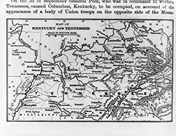 Amazon Com Historicalfindings Photo Map Of Kentucky And Tennessee