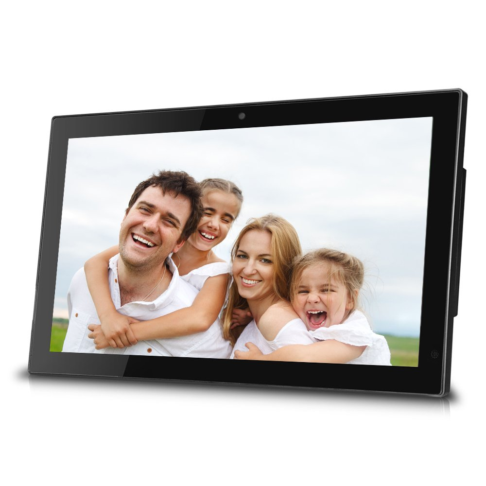 Sungale 19-inch WiFi Cloud Digital Photo Frame w/ Built-in Front Camera for Video Talk, Remote Control, 10GB Free Cloud Storage, 1366768px 16:9 LED Display (Black) by Sungale
