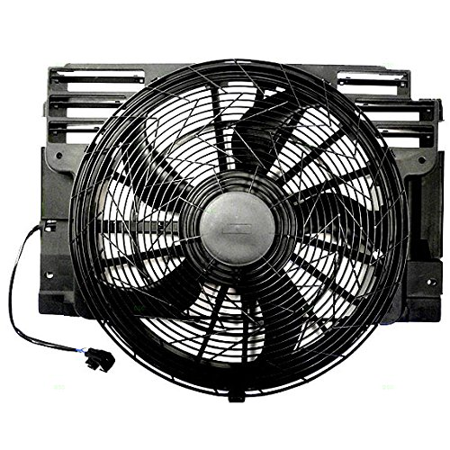 - A/C AC Condenser Cooling Fan Assembly Replacement for BMW SUV 64546921940 64546921381 AutoAndArt