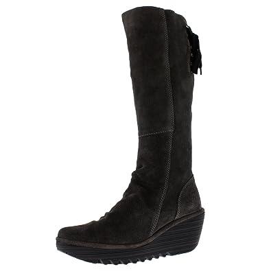 Womens Yust Winter Oil Suede Wedge Diesel Boots Knee Highs