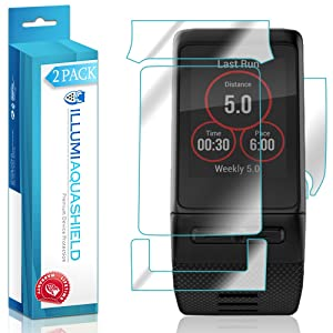 ILLUMI AquaShield (2-Pack) Screen Protector + Back Cover for Garmin Vivoactive HR / Premium High Definition Ultra Clear / Invisible Bubble-Free UV Resistant Film w/ Lifetime Warranty