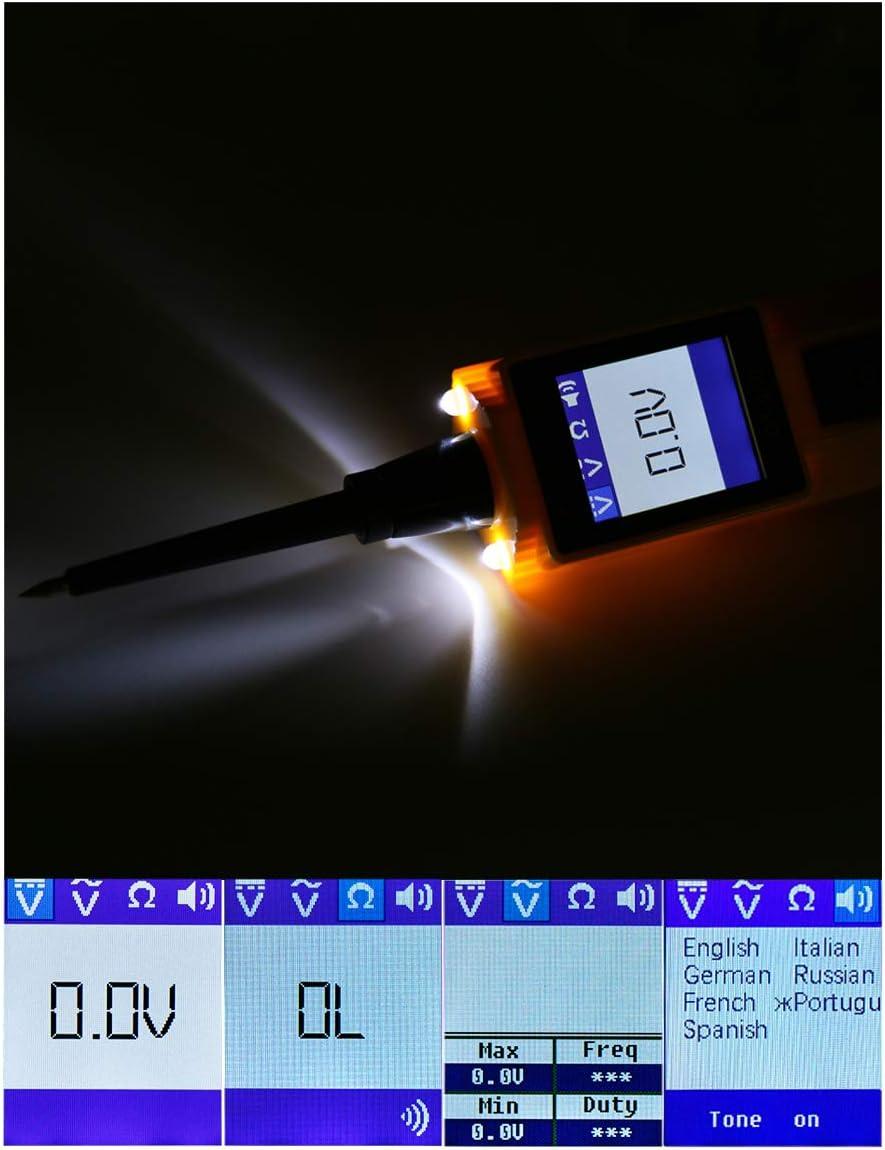 herramienta de diagn/óstico de sistema el/éctrico de coche con linterna LED BT-260 para veh/ículos de 6 V//12 V//24 V barco//motocicleta//servicio pesado//cami/ón AUTOOL Probador de circuitos automotriz