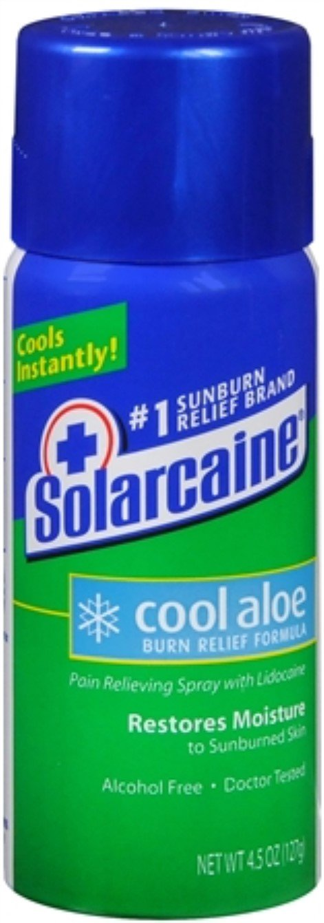 Solarcaine Cool Aloe Burn Relief Spray 4.50 oz (Pack of 7)