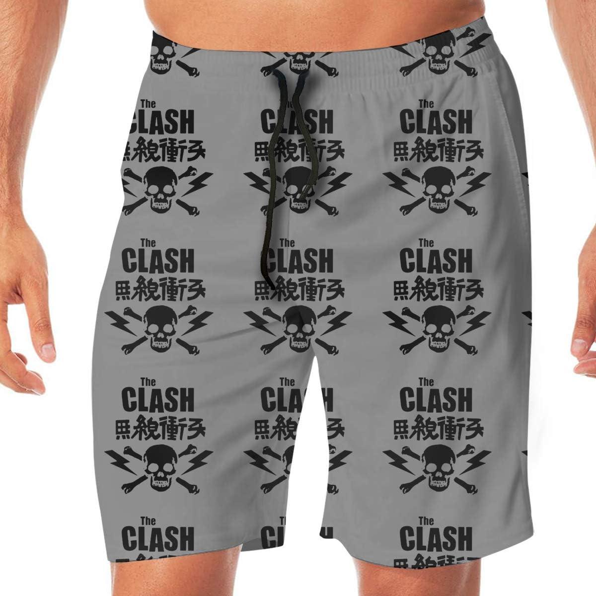 Mens Shorts Trunk Summer Pockets The Clash Swim Beach Athletic Quick Dry Beachwear Boardshort