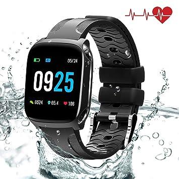 QiyuanLS Montre Connectée Cardio Smartwatch Podometre Bracelet ...