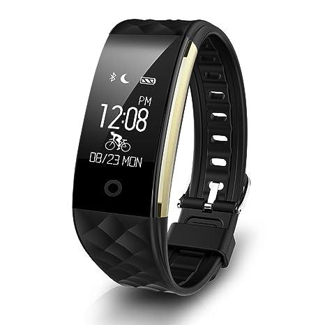 Diggro S2 Smart pulsera Bluetooth 4.0 impermeable reloj inteligente deportes Monitor Ritmo Cardiaco podómetro calorías sueño Control de Música para ...